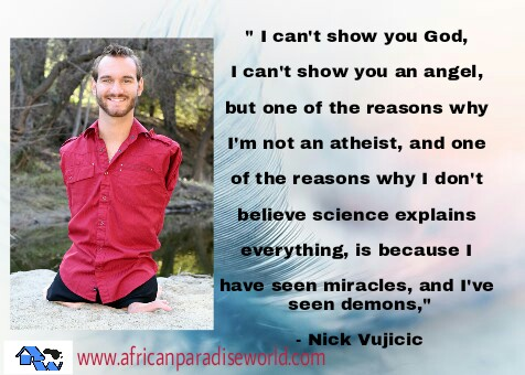 quotes of Nick Vujicic has real inspiration for Christians